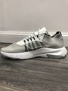 Zara Fabric Lace Up Sneakers With Knit Trainers And Lace In Light Grey Size Uk10