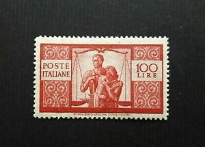 1945:Italia Repubblica - Democratica 100 Lire . Ben Centrato e Fresco. G.Integra