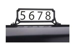 Black Steel Manhattan Mailbox Name/Address Kit