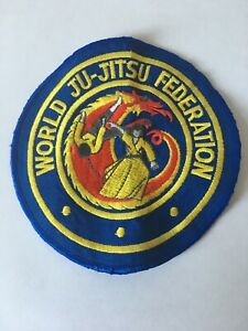 Vintage World Ju-Jitsu Federation Patch, Pre-owned, Good Condition