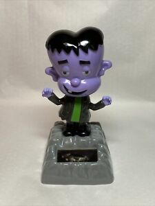 New Solar Powered Dancing Toy Bobble Head - Frankenstein Monster -purple