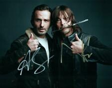 Andrew Lincoln Norman Reedus autographed 8x10 Photo Really signed photo and COA