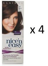 Clairol Nice N` Easy Hair Color #77 Medium Ash Brown Uk Loving Care (4 Pack)