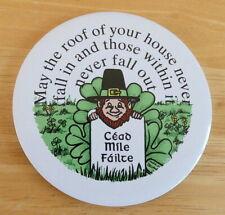 Irish Leprechaun Cead Mile Failte Ceramic Fridge Magnet