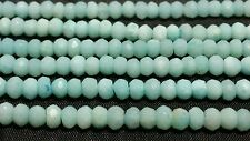 Genuine Faceted Amazonite 4MM Beads Unfinished Hanks 16 Inches (Lt. Blue/Green)