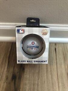 Chicago Cubs 2016 World Series Champions Glass Ball BASEBALL Christmas Ornament