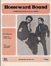 Homeward Bound Sheet Music 1966 SIMON & GARFUNKEL