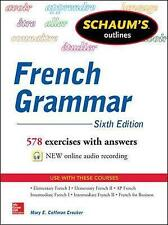 SCHAUM'S OUTLINES : FRENCH GRAMMAR - 6TH EDITION, LIKE NEW, FREE SHIPPING