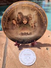 """Danbury Mint Lord of the Rings The Fellowship of the Ring,  12"""" Collectors Plate"""