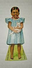 Antique •Worchester Salt Trade Card• Advertising Black Americana