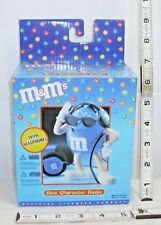 M&M'S BLUE CHARACTER NOVELTY TRANSISTOR RADIO WORKS BOXED SEALED