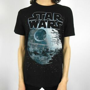 BLACK, STAR WARS, Death Star, MEN'S T-SHIRT Medium M