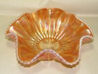 Dugan Carnival Glass Bowl,Marigold Opalescent Victor AKA (Jeweled Heart) Vintage