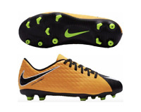 Nike Jr Hypervenom Phade III 3 FG Cleats Youth 4.5y Black/Yellow 852580 801 Kids