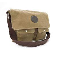 Canvas Music Messenger Bag with Shoulder Strap, School, Khaki Music Carry Case