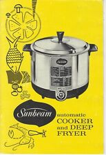 SUNBEAM automatic Cooker and Deep Fryer Instruction Book 1966 Doughnuts, Meats