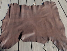 lambskin sheep leather hide Antiqued Bomber Jacket Stone Washed Dark Brown 6sf