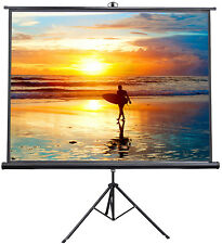 """VIVO 100"""" Portable Projector Screen 4:3 Projection Pull Up Foldable Stand Tripod"""