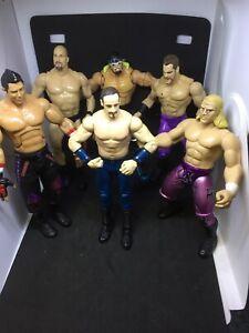 WWE MATTEL/JAKKS COLLECTION OF 6 WRESTLING FIGURES BUNDLE D