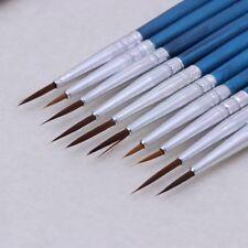 NEW Nylon Hair Artist Paint Brush Acrylic Watercolor Round Fine Hand Point Tip