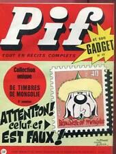 PIF GADGET N°89. Novembre 1970. SANS LE GADGET.
