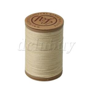 Beige Leather Waxed Wax Thread Cord 0.6mm Round Craft Hand Stitching 100 Meter