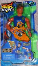 2000 Max Steel Typhoon Rescue Figure Weather Tracker Laser New Sealed!