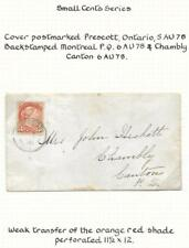 CANADA, QV 1878 SMALL HEAD STAMP USED LOCALLY, NEAT & CLEAN. CHAMBLY CANTON