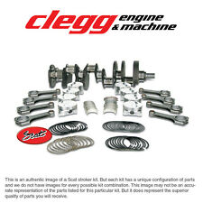 """CHEVY 454-572 SCAT STROKER KIT, 2PC RS, Forged(Dome)Pist., H-Beam 6.535"""" Rods"""