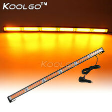 "34.5"" COB LED Amber Car Emergency Warning Strobe Light Bar Flashing Lamp 108W"