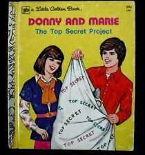 "Vtg 1977 Little Golden Book ""Donny and Marie"" Lgb #160 Rock & Roll Tv Show Hit"