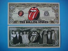 The ROLLING STONES Band 50th Anniversary ~*~ $1,000,000 One Million Dollar Bill
