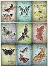 Papel De Arroz Para Decoupage, Scrapbook Hoja, Artesanía Vintage Mariposas