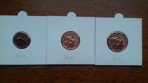 chypre 2012 pièces neuves 1 2 5 cents