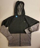 Men's Russell Polytech Fleece Zip Hoodie Cool Zone Venting Small 34-36 NWT FAST!