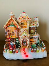 Christmas Ginger Bread House Lighted Battery Operated Holiday Light Decoration