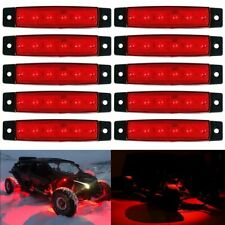 10x LED Rock Lights Underbody Light For Jeep Offroad Truck UTV ATV Boat Red