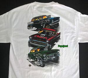 Tri 5 Chevy Drag Racing Hot Rod T-Shirt 1955 1956 1957 Chevrolet 55 56 57 NHRA