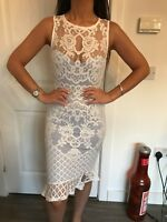 BNWT LIPSY CORNFLOWER SCUBA FOAM LACE FRONT DRESS SIZE 14 NEW STYLE IN RRP £65