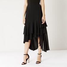 Coast Rara Frill Skirt Black Size UK 6 rrp £79 DH081 PP 19