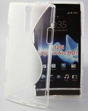 Rubber Case Wave für Sony xperia S Lt26i Arc HD in transparent Silikon Skin Bag