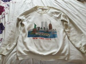Vintage 1989 Fruit of the loom NEW YORK World Trade centre Sweatshirt