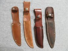 fixed blade knife leather sheaths lot of 4 lot Z