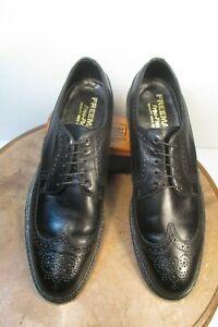 Freeman Free-Flex Mens Black Leather Derby Wingtip Dress Shoes Size 11.5 A