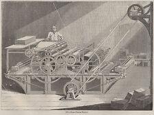 Antiguo libro de impresión C1845 máquina de impresión de vapor mapa haciendo tipo de prensa de periódico