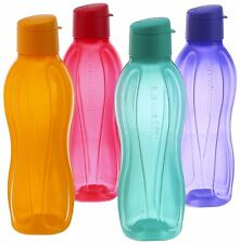 Tupperware Aquasafe Water Fliptop bottles Eco Sport bottle 750 ML 25 oz Set of 4