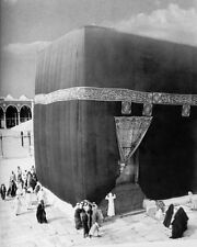 THE KAABA IN MECCA WITH PILGRIMS IN 1910 8x10 SILVER HALIDE PHOTO PRINT