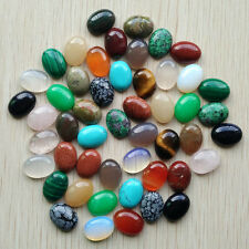 Wholesale 50pcs/lot natural gemstone mixed Oval CAB CABOCHON stone beads 12x16mm