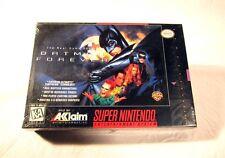 NEW SEALED Batman Forever Super Nintendo Video Game 1996 H Seam SNES System