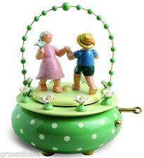 Wendt & Kühn Spieldose Spieluhr Zwei Tänzer im Bogen  5336/52A Blumenwalzer  Neu